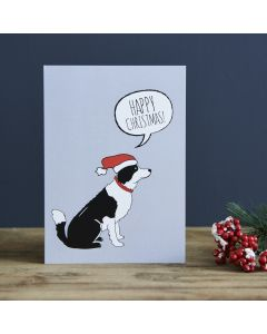 Sweet William Christmas Card Border Collie