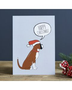 Sweet William Christmas Card Boxer