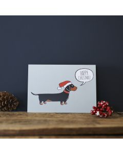Sweet William Christmas Card Dachshund