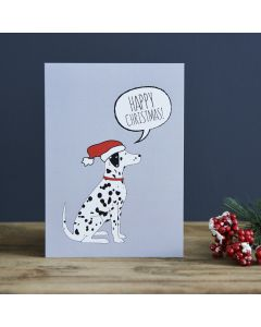 Sweet William Christmas Card Dalmatian