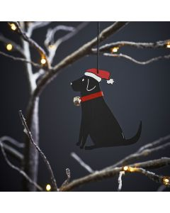 Black Labrador - Sweet William Christmas Decoration