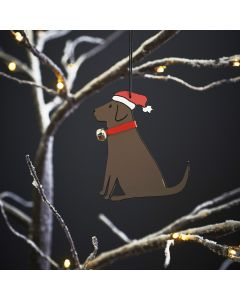 Chocolate Labrador- Sweet William Christmas Decoration