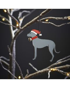 Lurcher - Sweet William Christmas Decoration
