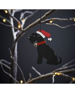 Black Schnauzer - Sweet William Christmas Decoration