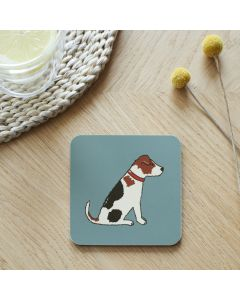 Sweet William Mischevious Mutts Coaster Jack Russell
