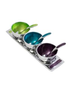 Globe Home Recycled Aluminium Bowls - Dip or Sauce Bowl Set of 3
