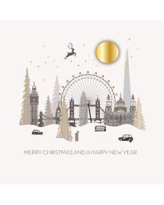 Five Dollar Shake Boxed Christmas Cards Merry Christmas And A Happy New Year London  Pack of 6