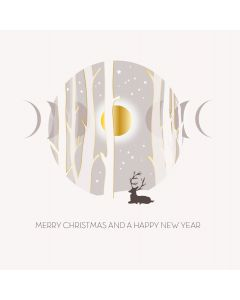 Five Dollar Shake Boxed Christmas Cards Merry Christmas And A Happy New Year Forest Pack of 6