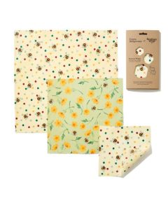 The Beeswax Wrap Co Emma Bridgewater Bees and Buttercups Beeswax Wrap  - Three Combo