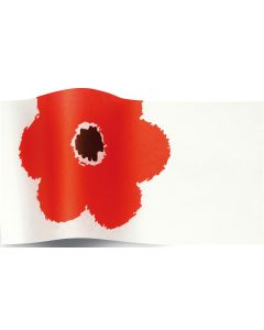 Suttons Tissue Paper Flowers at Large Red
