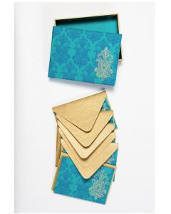 Globe Home Handmade Paper Notecards Chandelier Turquoise