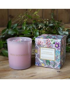 Irish Botanicals Candle Lavender and Black Peppermint