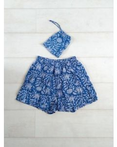 An Indian Summer Holly Boxer Shorts - Blue