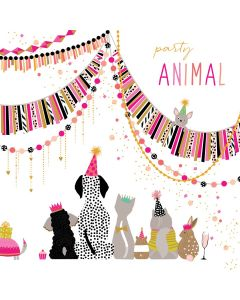 The Art File Sara Miller London Card Birthday Card Party Animals