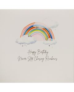 Five Dollar Shake Birthday Card Butterfly Moon Range Never Stop Chasing Rainbows