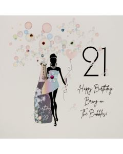 Five Dollar Shake Birthday Card 21 Bring On The Bubbles