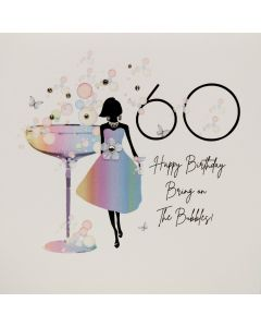 Five Dollar Shake Birthday Card 60 Bring On The Bubbles