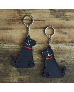 Sweet William Keyring Labrador Black