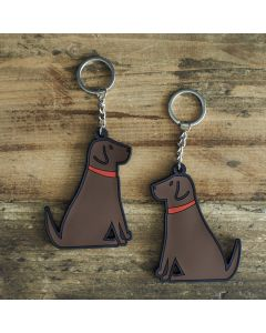 Sweet William Keyring Labrador Chocolate