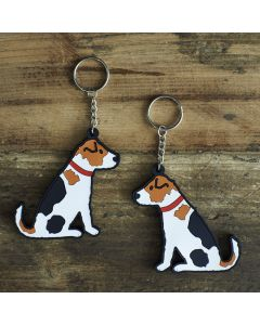 Sweet William Keyring Jack Russell
