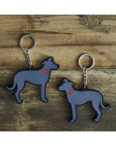 Sweet William Lurcher Keyring