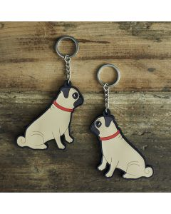 Sweet William Pug Keyring