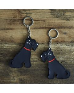 Sweet William Keyring Schnauzer Black