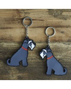 Sweet William Keyring Schnauzer Grey