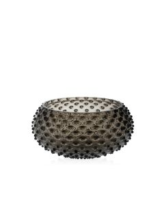 KLIMCHI Crystal Hobnail Large Bowl Black Smoke