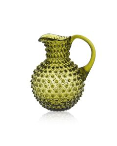 KLIMCHI Crystal Hobnail Jug Bonsai Green