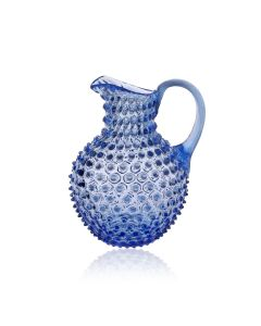 KLIMCHI Crystal Hobnail Jug  Light Blue