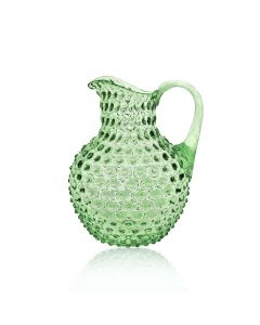 ,KLIMCHI Crystal Hobnail Jug  Light Green