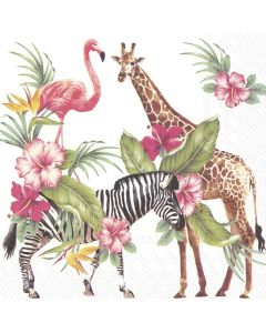 IHR Paper Napkins, Pack of 20 3-ply Lunch Size, Safari Park