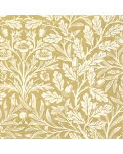 Paper Napkins for Decoupage, 4 Single Lunch Size Paper Napkins, Acorn Gold and Cream