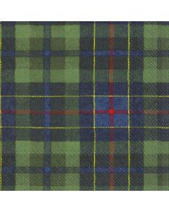 IHR Paper Napkins, Pack of 20 3-ply Lunch Size, Tartan Green