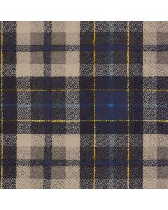 IHR Paper Napkins, Pack of 20 3-ply Lunch Size, Tartan Blue