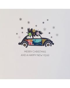 Five Dollar Shake Christmas Card  Merry Christmas and a Happy New Year Car