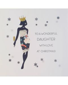 Five Dollar Shake Christmas Card To a Wonderful Daughter with Love at Christmas