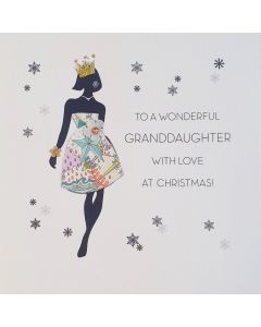 Five Dollar Shake Christmas Card To a Wonderful Granddaughter with Love at Christmas