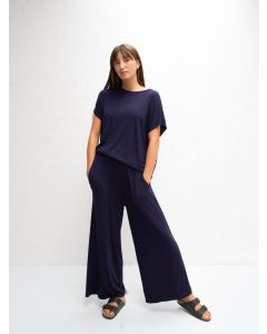 Chalk UK Luna Pants Navy Drape Jersey