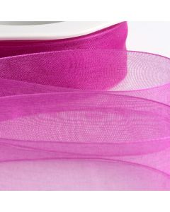 ,Italian Options - Organza Woven Edge Ribbon Magenta