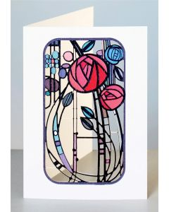 Forever Cards Laser Cut Card Charles Rennie Mackintosh Inspired Abstract Roses
