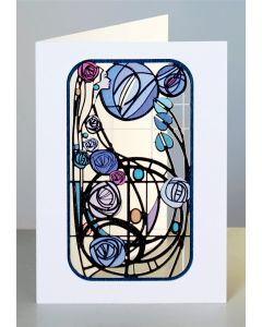 Forever Cards Laser Cut Card Charles Rennie Mackintosh Inspired Lady in Purple