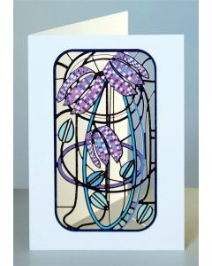 Forever Cards Laser Cut Card Charles Rennie Mackintosh Inspired Fritillary