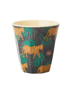 RICE DK Melamine Cup Medium Leopards And Leaves