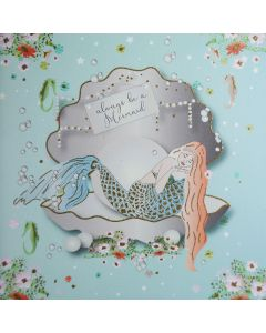 Five Dollar Shake Birthday Card Always be a Mermaid