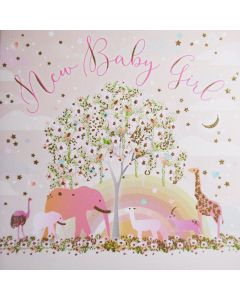 Five Dollar Shake New Baby Card Baby Girl
