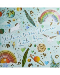 Five Dollar Shake New Baby Card Welcome to The Universe Little Boy