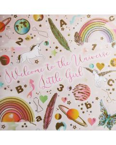 Five Dollar Shake New Baby Card Welcome to The Universe Little Girl