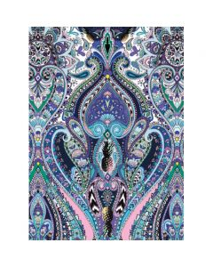 Museums and Galleries Matthew Williamson Greeting Card Design Collection Purple Paisley